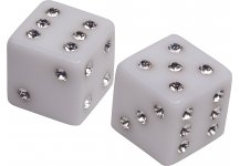 Via Manzoni Dice Set from Italy with Swarovski Crystals