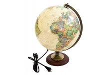 "The Nobel Globe with Lighting 12"". Made in The USA"
