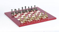 Staunton Chess Sets Metal/Brass