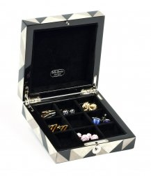 Abruzzi Luxury Genuine Mother of Pearl Cufflink Box
