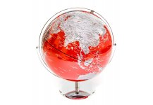 Red & Silver Globe of The World