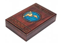 Bello's Map of The World Mens Valet Box