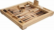 Vesey Street Inlaid Wooden Backgammon Set