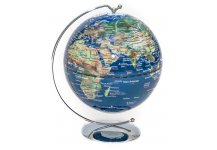 Blue Lighted Desk Globe 5""