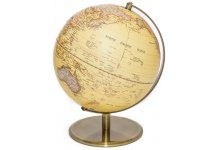Globe of The World with Raised-Relief & Bronze Base 10""