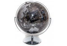 Black & Silver Globe of The World
