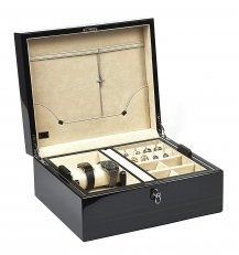 Florentino Polished Ebony Luxury Box for Cufflinks/Watches/Rings