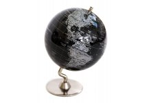 Black & Sliver Globe of The World 5""