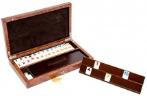Via Del Pucci Luxury Rummy Set with Briarwood Case from Italy