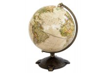 "National Geographic Antique Globe 12"". Made in The USA"
