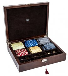 Piazza Portello Box for Ties, Rings & Cufflinks Made in Italy