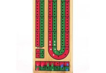 Double Track Wooden Cribbage Board