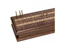 Bello Games Deluxe Walnut Cribbage & Card Set