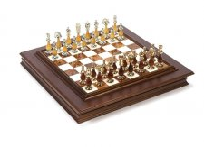 Francesca 24K Chessmen & Napolitano Board from Italy