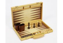 Mulberry Street Wooden Chess, Checkers & Backgammon Set