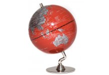 Red & Sliver Globe of The World 5""