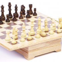 Grand Central Station Chess & Checkers Set