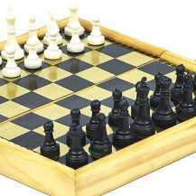 Battery Place Folding Magnetic Chess Set