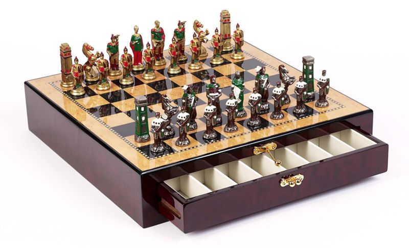 Figurine Chess Sets/Hand Painted