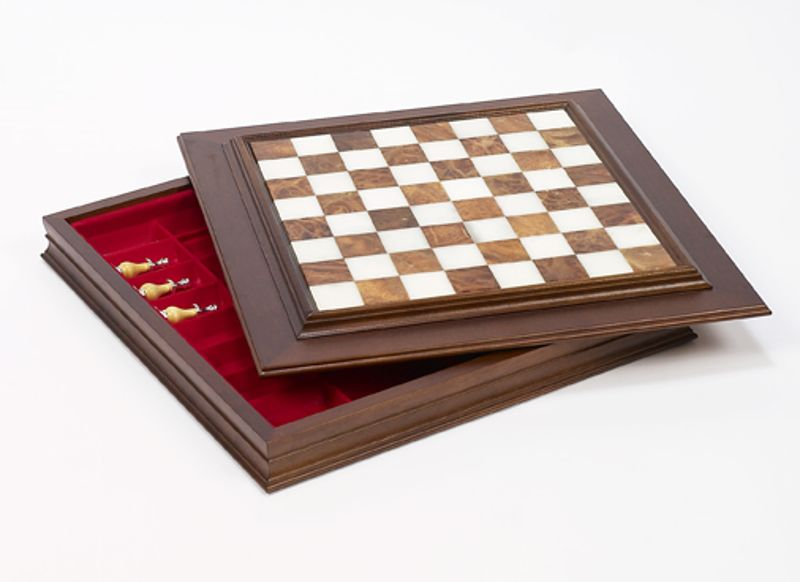 Chess & Checkers Cabinet Boards