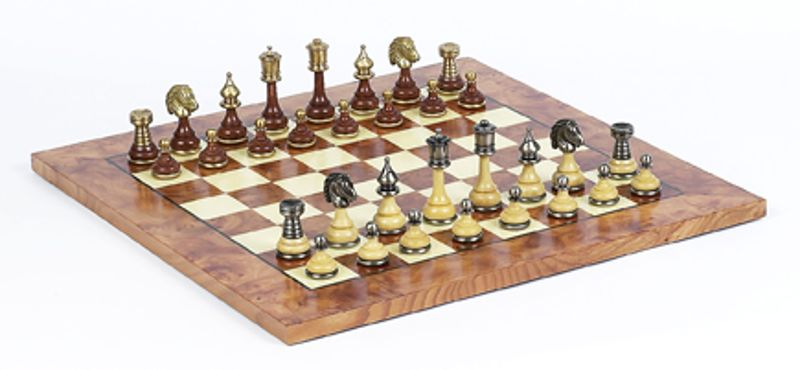 Staunton Chess Sets Wood/Brass