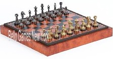 Stefano Jr., Chessmen and Marcello Cabinet/Board from Italy
