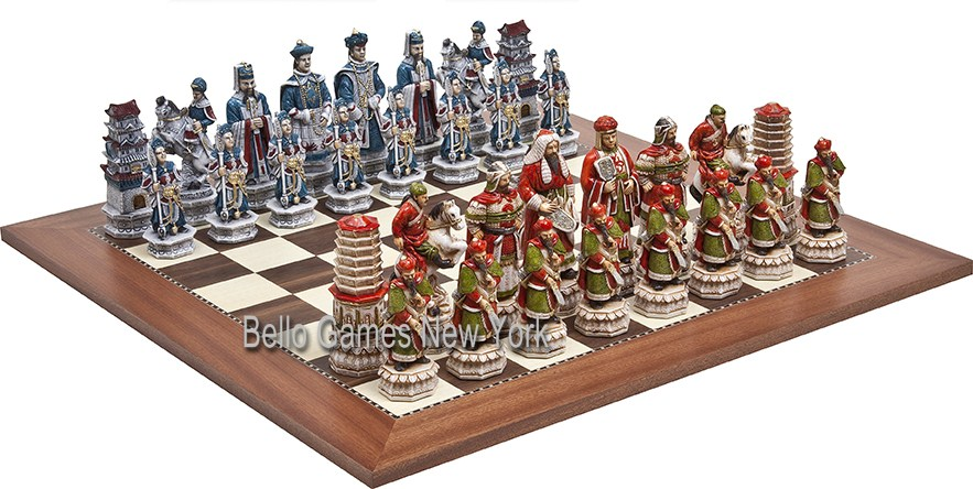 Great Wall of China Luxury Chessmen from Italy & Astor Board