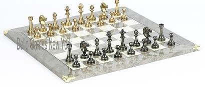 Bello Stefano Chessmen from Italy & Greenwich Chess Board