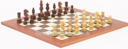 Monte Carlo Deluxe Chessmen & Astor Place Chess Board from Spain