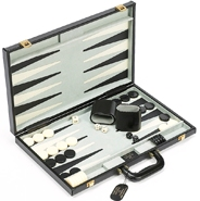 Park Avenue Genuine Leather Backgammon Set