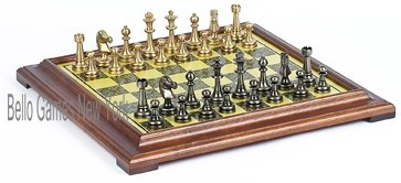 Bello Stefano Chessmen & Salvatori Chess Board from Italy