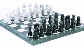 Central Park South Marble Chess Set