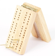 Mini Travel Wood Cribbage Board