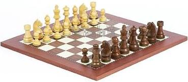 Tournament Wooden Staunton Chessmen & Astor Place Chess Board