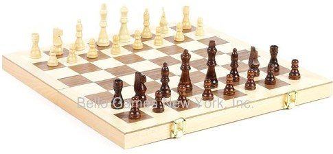Union Square Park Wooden Folding Chess Set