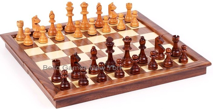 Grand Street Maple/Walnut Tournament Chess Set