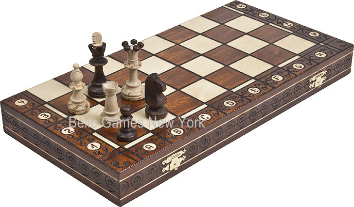 Sullivan Street Maple/Walnut Finished Tournament Chess Set