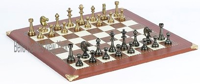 Bello Stefano Chessmen from Italy & Astor Place Board from Spain