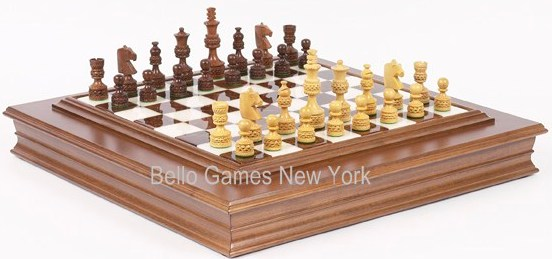 Monte Carlo Deluxe Chessmen & Marble Chess Board from Italy