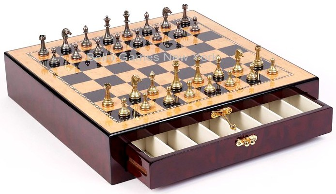Stefano Jr., Chessmen From Italy & Tribeca Wooden Chess Board