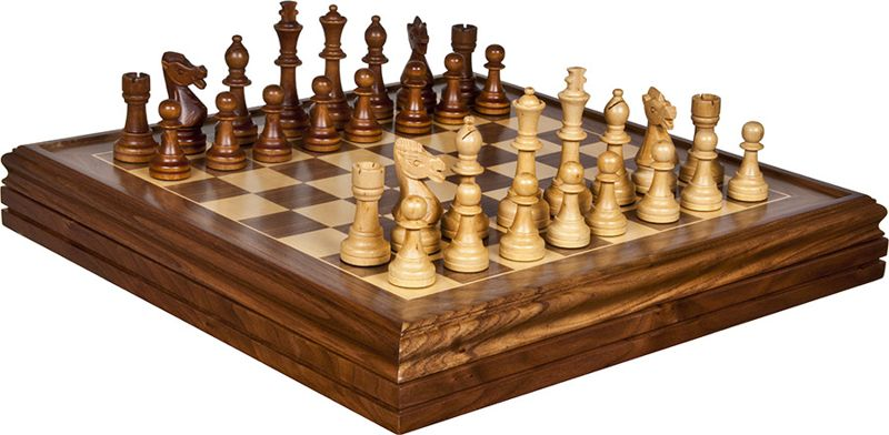 Staunton chess wooden chess sets boards pieces bello games new york inc - Deluxe chess sets ...