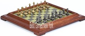 Stefano Jr., Chessmen and Salvatori Chess Board from Italy